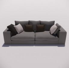 沙发_004_室内设计模型