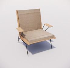 躺椅_012_室内设计模型
