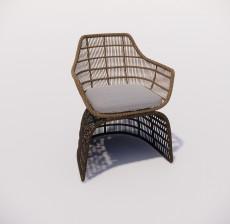 沙发椅_006_室内设计模型