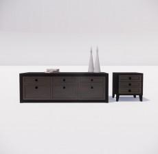 电视柜_008_室内设计模型