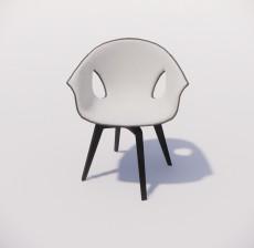 靠背椅_187_室内设计模型