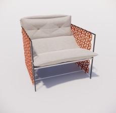 沙发椅_015_室内设计模型