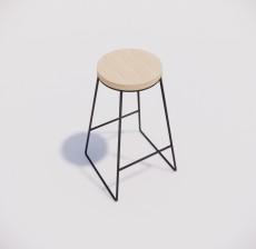 吧椅_019_室内设计模型