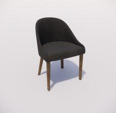 沙发椅_014_室内设计模型