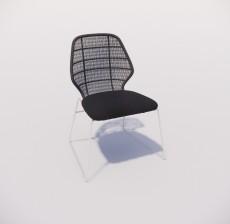 靠背椅_140_室内设计模型