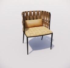 沙发椅_003_室内设计模型