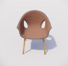 靠背椅_182_室内设计模型