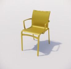 扶手椅_003_室内设计模型