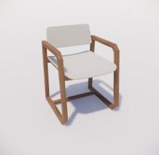 扶手椅_015_室内设计模型