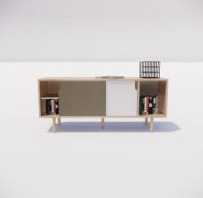 电视柜_014_室内设计模型