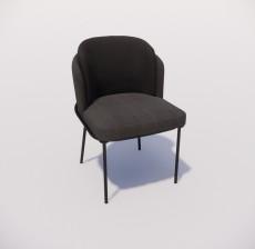 靠背椅_158_室内设计模型