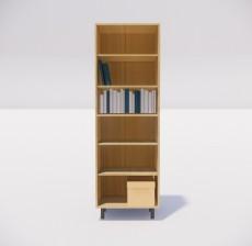 收纳展示柜_008_室内设计模型