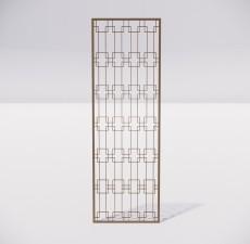 屏风隔断_032_室内设计模型