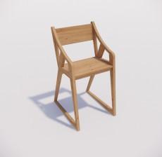 吧椅_018_室内设计模型
