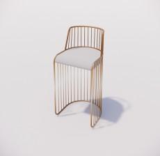 吧椅_002_室内设计模型