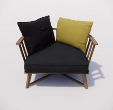 沙发椅_008_室内设计模型