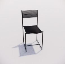 靠背椅_047_室内设计模型