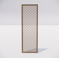 屏风隔断_033_室内设计模型