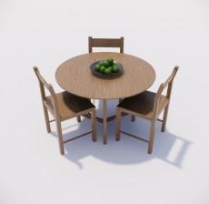 餐桌_001_室内设计模型