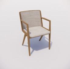 扶手椅_017_室内设计模型