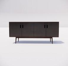 电视柜_020_室内设计模型
