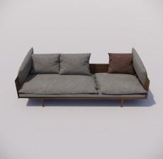 沙发_005_室内设计模型