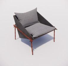 沙发椅_025_室内设计模型