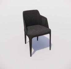 靠背椅_132_室内设计模型