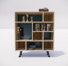 收纳展示柜_006_室内设计模型