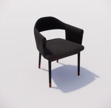 扶手椅_028_室内设计模型