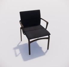 靠背椅_097_室内设计模型