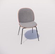 靠背椅_014_室内设计模型