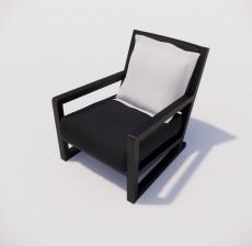 靠背椅_036_室内设计模型