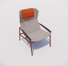 躺椅_015_室内设计模型