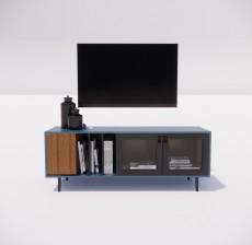 电视柜_015_室内设计模型