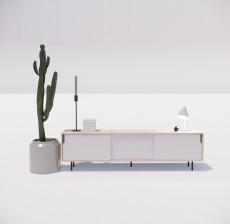 电视柜_009_室内设计模型