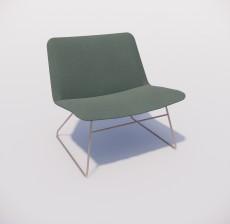 躺椅_007_室内设计模型