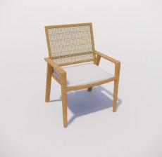 扶手椅_025_室内设计模型