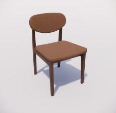 靠背椅_041_室内设计模型