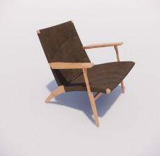 扶手椅_001_室内设计模型