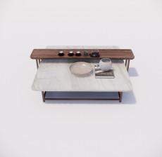 茶几边几_012_室内设计模型
