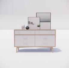 边柜_040_室内设计模型