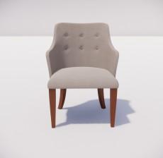 沙发椅_001_室内设计模型