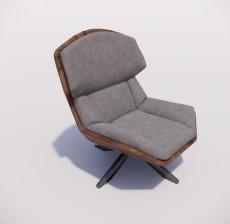 躺椅_011_室内设计模型