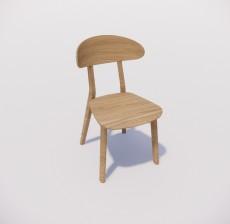 靠背椅_177_室内设计模型