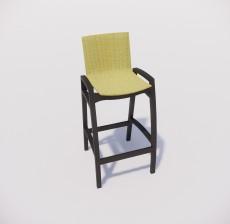 吧椅_006_室内设计模型