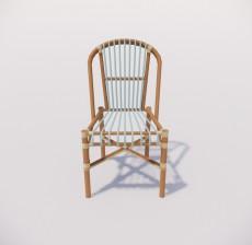靠背椅_010_室内设计模型