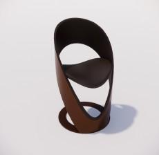 吧椅_016_室内设计模型