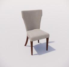 靠背椅_106_室内设计模型