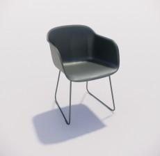 靠背椅_154_室内设计模型